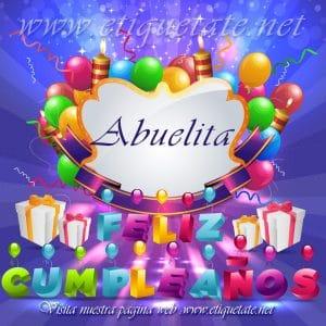 Imagenes de cumpleaños para abuelitas