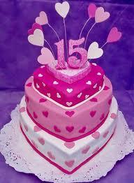 Imagen de pastel de 15 años