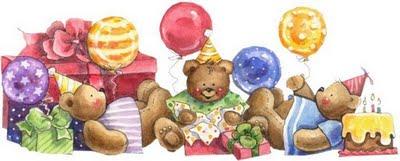 Fiesta de cumpleaños con ositos