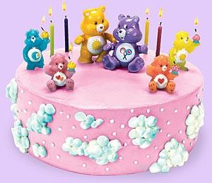 Ositos en pastel de cumpleaños